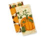 Pumpkins Kitchen Towels 2 Pack Stacked and Fanned Silo Image