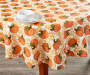 Pumpkins Round Tablecloth 60 Inches on Table with Props Lifestyle Image