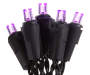 Purple Battery Operated LED Flat Mini Lights 20 Count Out of Package Lit Up Silo Image