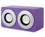 Purple Bluetooth Mini Box Speaker Front Silo