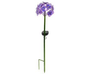 Wilson Amp Fisher Purple Flowers Solar Light Stake Big Lots