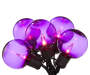 Purple Globe Lights 35 Count on Strand Lit Up Silo Image
