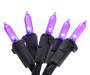 Purple LED Battery operated Twinkle Mini Light Set 20 Count Bundle Overhead View Silo Image