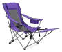 Purple Quad Chair with Footrest Silo