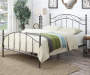 QUEEN SCROLL BROWN METAL BED