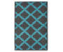 Quatrefoil Gray and Blue Accent Rug 2 Feet 3 Inch by 3 Feet 9 Inch Overhead Shot Silo Image