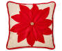 RC DEC PILLOW POINSETTIA APPLIQUE