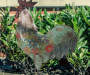 ROOSTER W/ FLOWERS