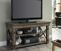 RUSTIC GREY OAK 50IN TV STAND lifestyle