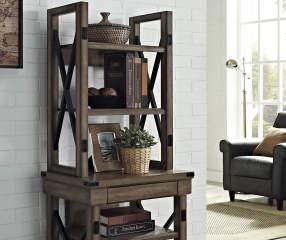 Ameriwood Rustic Gray Oak 5 Shelf Bookcase Big Lots
