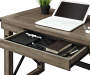 RUSTIC GREY OAK DESK silo close up