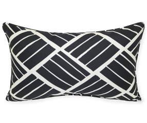 Raffia Black White Outdoor Throw Pillow 12 X 20 Big Lots