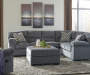Ramsdell Gray Right Arm Facing Loveseat Sectional