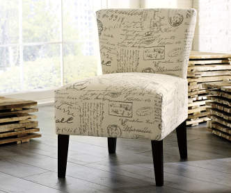 Sedona Pewter Armless Accent Chair Big Lots