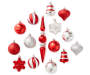 Red & Silver Shatterproof Ornaments 43-Pack Out Of Package Silo