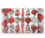 Red & Silver Shatterproof Ornaments 43-Pack Silo In Package