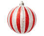 Red & Silver Stripe Shatterproof Ornaments, 25-Pack 1 Out Of Package Silo