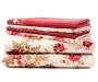 Red & Tan Floral 6-Piece Full Sheet Set