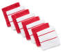 Red & White Cotton Dish Cloths, 8-Pack