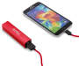 Red 4 Piece Micro USB Power Bundle Backup Batteriy with Phone and Cable Silo Image