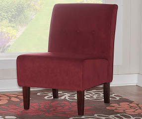 Red Armless Accent Chair Big Lots