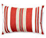 Red Chair Pad and Pillow Set 8 Piece Set silo front pillow