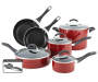 Red Classic Series 12 Piece Cookware Set silo front