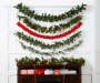 Red Deluxe Poinsettia Chain Garland, (6')