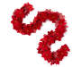 Red Deluxe Poinsettia Chain Garland 6 Feet Snake Pose Silo