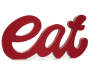 Red Eat Script Plaque Decor Upright Silo Image