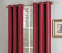 Red Faux Silk Whitney Thermal Curtain