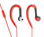 Red Flex Sport Earbuds Silo