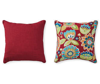 Big Lots Red Throw Pillows : Garden Bird Outdoor Throw Pillow, (20