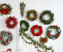 "Red Floral Twig Wreath, (20"")"