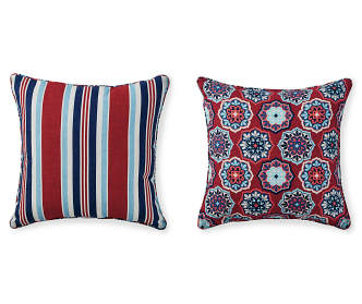 Big Lots Red Throw Pillows : Navy Blue Lumbar Outdoor Throw Pillow, (12