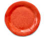 Red Flower Melamine Serving Platter Overhead View Silo Image