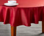"Red Glitter Christmas Tablecloth, (60"")"
