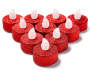 Red Glitter LED Tealight 10-Pack with Batteries Silo Unlit