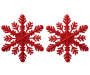 Red Glitter Snowflake Wall Décor 2-Pack Silo