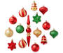 Red Green Gold Shatterproof Ornaments 43 Pack Out Of Package Silo
