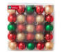 Red Green Gold Shatterproof Ornaments 50-Pack In Package Silo