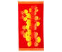 Red Hibiscus Beach Towel 34 inches X 64 inches silo front