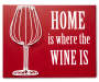 Red Home is Where Wire Cork Holder Plaque without Corks Silo Image