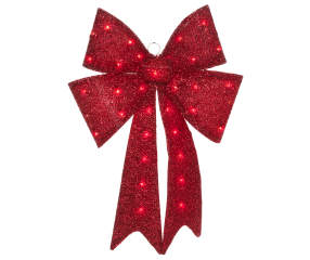 Red Light Up Tinsel Bow 24 Quot Big Lots