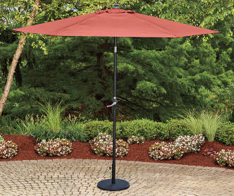 Wilson Amp Fisher Tan Triple Vent Market Patio Umbrella With