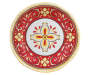 Red Patterned Medallion Dinner Plate