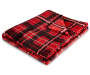 Red Plaid Plush Velvet Throw Silo