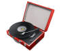 Red Polaroid Portable Turntable with Lid Up Silo Image