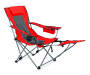Red Quad Chair with Footrest