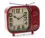 Red Radio Side Dial Clock Silo Side Angle